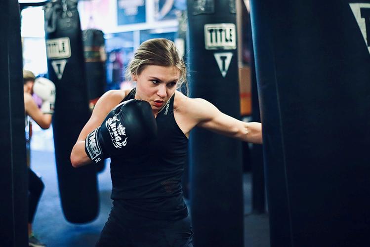 Jessica Du Bois boxing